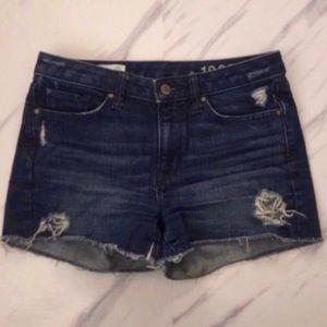 Gap Maddie Cutoff Shorts Distressed Darkwash